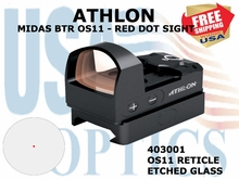 ATHLON MIDAS BTR OS11- RED DOT SIGHT OS11 RETICLE