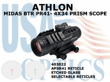 ATHLON MIDAS BTR PR41 - 4x34 PRIS SCOPE ASPR 41 RETICLE