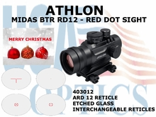 ATHLON MIDAS BTR RD12 - RED DOT SIGHT ARD 12 RETICLE (show demo)
