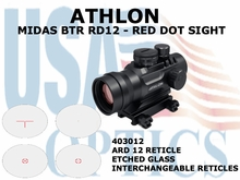 ATHLON MIDAS BTR RD12 - RED DOT SIGHT ARD 12 RETICLE