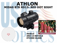 ATHLON MIDAS BTR RD13 - RED DOT SIGHT ARD 13 RETICLE (show demo)