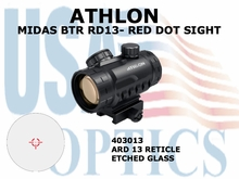 ATHLON MIDAS BTR RD13 - RED DOT SIGHT ARD 13 RETICLE