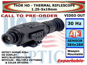 ATN ThOR HD 384 1.25-5x19 <BR>THERMAL RIFLESCOPE