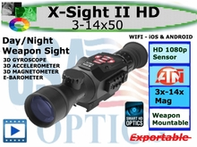 ATN X-SIGHT ll HD 3-14x50 SMART RIFLESCOPES