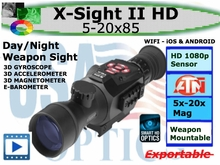 ATN X-SIGHT ll HD 5-20x85 SMART RIFLESCOPE