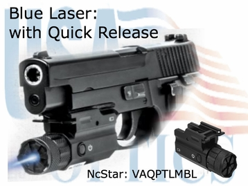 BLUE Laser with Quick Release for your Pistol