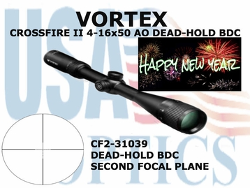 VORTEX CROSSFIRE ll 4-16x50 AO DEAD-HOLD BDC (show demo)