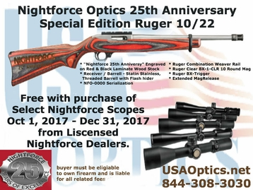 NIGHTFORCE COMPETITION 15-55x52 CTR-2 WITH ZERO STOP