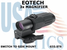 EOTECH G33 MAGNIFIER with SWITCH to SIDE MOUNT, BLACK