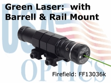 Firefield Green Laser Sight w/ Barrel and Weaver Mounts