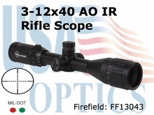 Firefield Tactical 3-12x40AO IR Rifle Scope