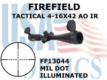 FIREFIELD TACTICAL 4-16X42 AO IR MIL DOT