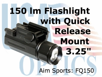 FLASHLIGHT 150 LUMENS WITH QRM COLOR FILTERED LENSES