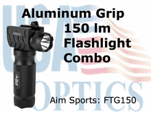 FLASHLIGHT 150 LUMENS WITH TACTICAL GRIP/ALUMINUM