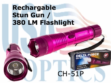Flashlight / Stun Gun - Pink