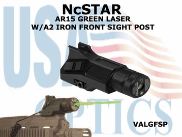 NcSTAR AR15 GREEN LASER w/A2 IRON FRONT SIGHT POST