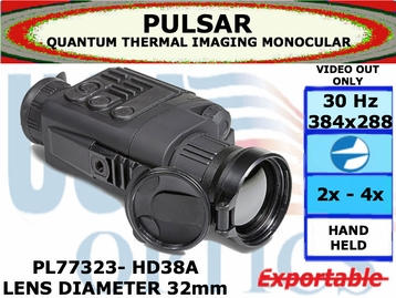 QUANTUM HD38A 2-4x32 THERMAL IMAGING MONOCULAR