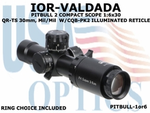 IOR-VALDADA 1:6x30 QR-TS 30mm PITBULL 2, Mil/Mil COMPACT SCOPE W/CQB-PK2 ILLUMINATED RETICLE