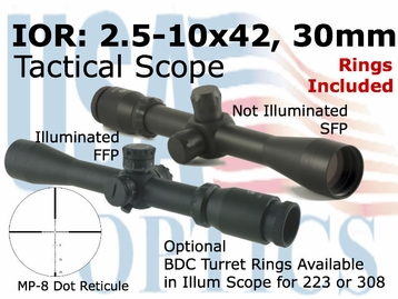 IOR Valdada 2.5-10x42 Tactical Scope
