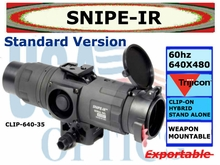 SNIPE-IR THERMAL CLIP ON SIGHT WITH MINI D-LOC MOUNT (STANDARD MODEL)