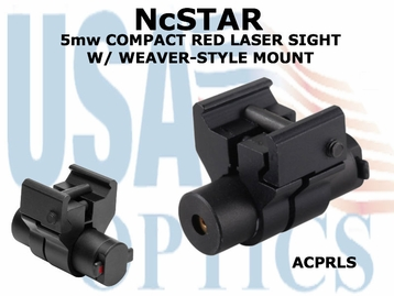 NcSTAR 5mw COMPACT RED LASER SIGHT W/ WEAVER-STYLE MOUNT