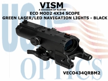 VISM ECO MOD2 4X34 SCOPE w/GREEN LASER/LED NAVIGATION LIGHTS  - BLK
