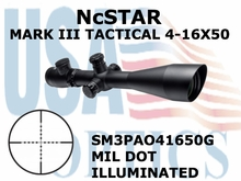 NcSTAR MARK III TACTICAL 4-16X50 MIL DOT ILLUMINATAED