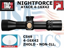 NIGHTFORCE ATACR 4-16X42 F1 TReMor3 WITH Z HOLD - NON-ILL.