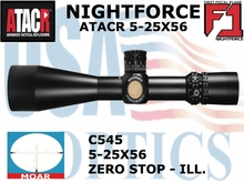 NIGHTFORCE ATACR 5-25x56 F1 MOAR WITH ZERO STOP  - ILL.