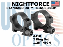 "NIGHTFORCE X-TREME DUTY ULTRALITE RINGS 34MM<BR>1.5"" XX-HIGH (6 SCREW)"