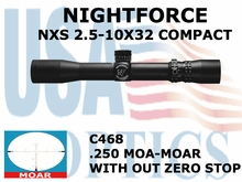 NIGHTFORCE NXS 2.5-10x32 MOAR WITHOUT ZERO STOP