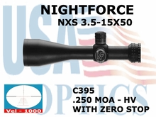 NIGHTFORCE NXS 3.5-15x50 HV WITH ZERO STOP