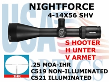 NIGHTFORCE SHV 4-14x56 IHR