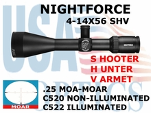 NIGHTFORCE SHV 4-14x56 MOAR