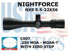 NIGHTFORCE NXS 5.5-22x56 MOAR-T WITH ZERO STOP