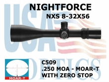 NIGHTFORCE 8-32x56 MOAR-T WITH ZERO STOP