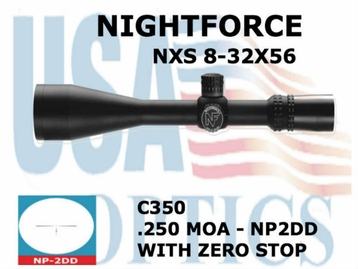 NIGHTFORCE NXS 8-32x56 NP-2DD WITH ZERO STOP