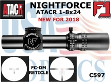 NIGHTFORCE ATACR 1-8x24 F1 FC-DM - ILLUMINATED