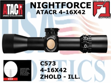 NIGHTFORCE ATACR 4-16x42 F1 H-59 WITH Z-HOLD - ILLUMINATED