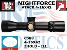 NIGHTFORCE ATACR 4-16x42 F1 MIL-C WITH ZERO HOLD - ILLUMINATED