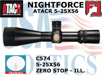 NIGHTFORCE ATACR 5-25x56 F1 TReMOR3 WITH ZERO HOLD - ILLUMINATED