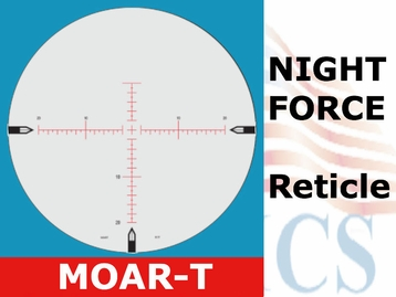 NIGHTFORCE ATACR 5-25x56 <BR>MOAR-T WITH ZERO STOP - ILLUMINATED