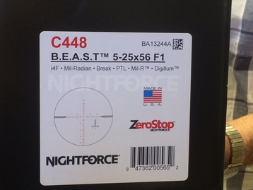 Nightforce - B.E.A.S.T. 5-25X56  - MIL-R
