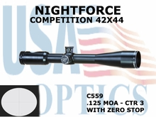 NIGHTFORCE COMPETITION 42x44<BR> CTR 3 WITH ZERO STOP