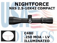 NIGHTFORCE NXS 2.5-10X42 COMPACT LV ILLUMINATED