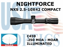 NIGHTFORCE NXS 2.5-10X42 COMPACT MOAR ILLUMINATED
