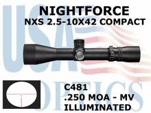 NIGHTFORCE NXS 2.5-10X42 COMPACT MV ILUMINATED