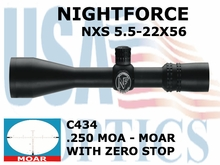 NIGHTFORCE NXS 5.5-22x56 MOAR WITH ZERO STOP