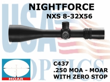 NIGHTFORCE NXS 8-32x56 MOAR WITH ZERO STOP