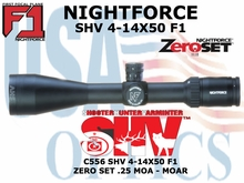 NIGHTFORCE SHV 4-14X50 .25 MOA - MOAR